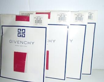 GIVENCHY PARIS RED Pantyhose Stockings Like New Original Packing