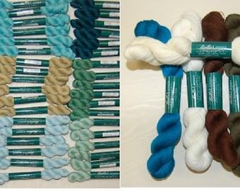 Bella Lusso - Fine Merino Wool - Colors 576-1006 - 2-ply Crewel Weight  - 45 Yard Skeins or 350 Yard Hanks