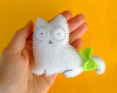 White cat plush doll
