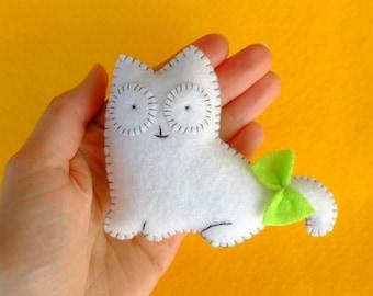 White cat plush doll