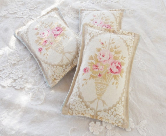 Victorian Shabby Chic Lavender Sachets Set of 3 Cottage