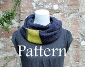 KNITTING PATTERN - Charcoal and sorbet loop scarf - Listing112