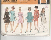Vintage Sewing Pattern McCalls 9555 for Dress, Sz 12, 1960s