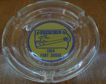 Women's Bowling Association Iowa Ashtray 1964 Fort Dodge