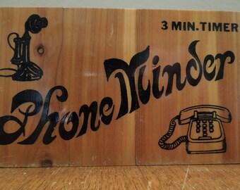 Vintage Cedar Phone Minder Box