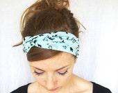 SALE // we are MOVING Turban Headband // Mint Headband // Jersey Knit Headband // Hair Covering // Hair Wrap // Mint Mesh Turban Headband