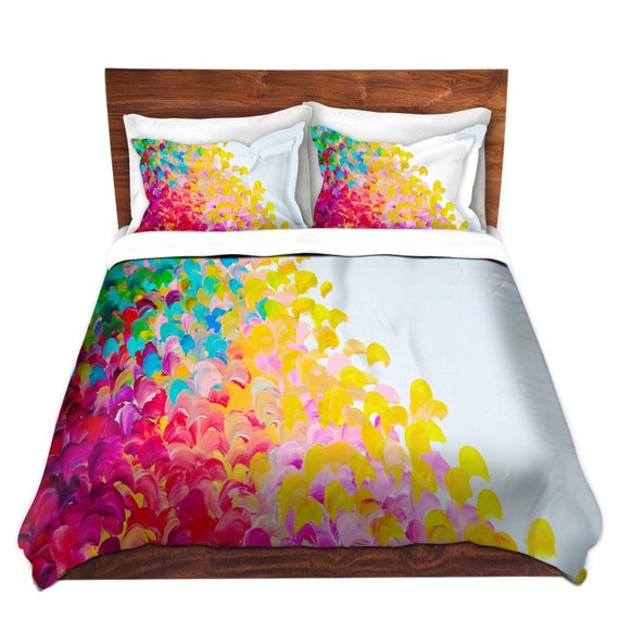 housses de couette rainbow arc en ciel fine art king queen twin cration couleur ombre - Housse De Couette Colore