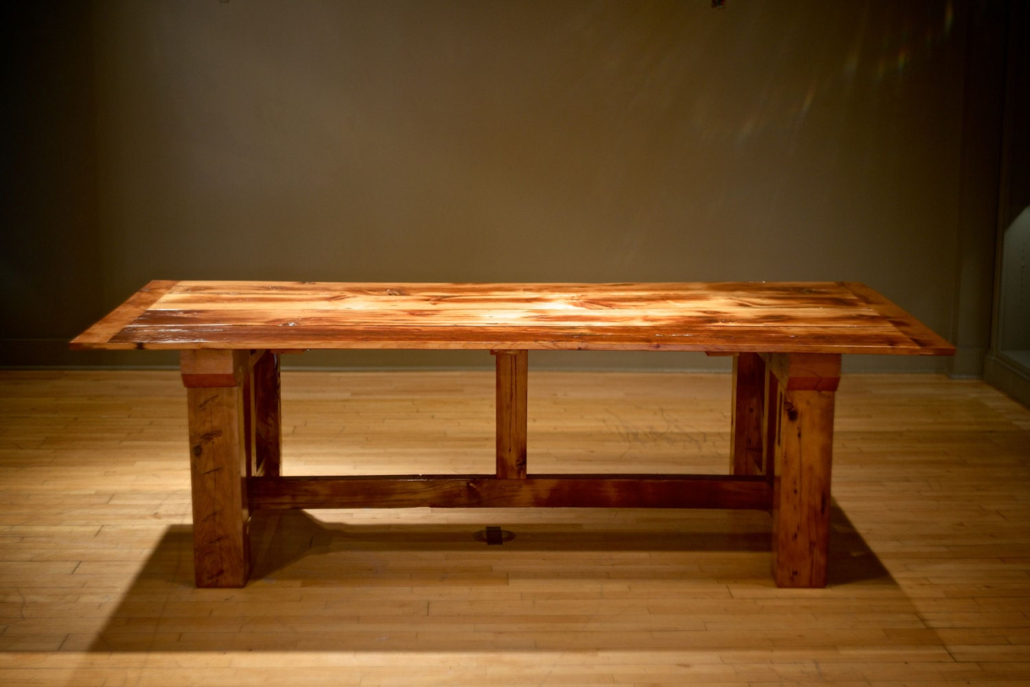 Rustic Farm Table Made Of Reclaimed Wood Dining Table With