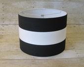 Drum Lamp Shade Lampshade Pendant Black White Wide Stripe