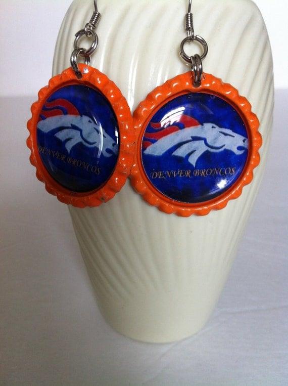 items similar to denver broncos earrings denver broncos