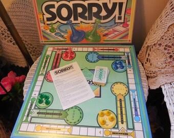 1992 Sorry Board Game /Gift idea /