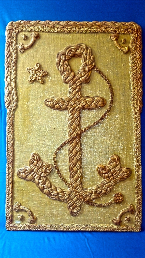 Nautical Rope Wall Decor: Adeco quot wood ornamental nautical ship ...
