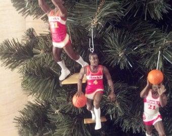 Atlanta Hawks ornaments Spud Webb Dominique Wilkins Steve Smith