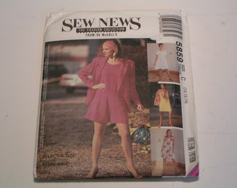 Vintage Sew News McCalls Pattern 5859 Miss Lined or Unlined Jacket Dresses and Rompers