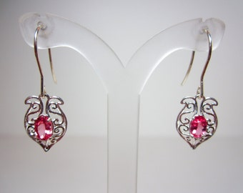 Tanzanian Pink Spinel Earrings