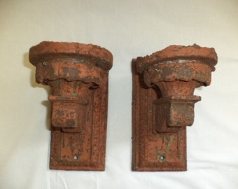 Vintage Cast Iron Wall Sconce