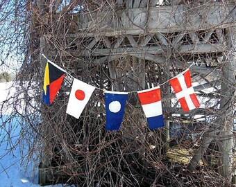 Cotton Nautical Flag Banner