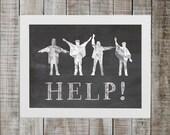 The Beatles Print - 'HELP!'