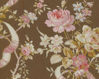 RJR fabric - Floral by Robyn Pandolph on Brown