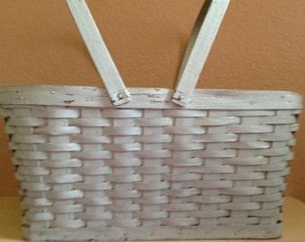 Large Cottage Aqua Gathering Basket