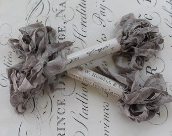 Chabby Wrinkled Ribbon FRENCH GREY 5yrds