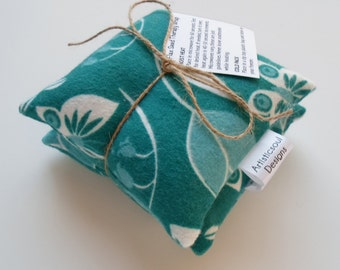 Flax Seed Pod Set, Teal Garden, Hot/Cold Therapy -- Set of Two