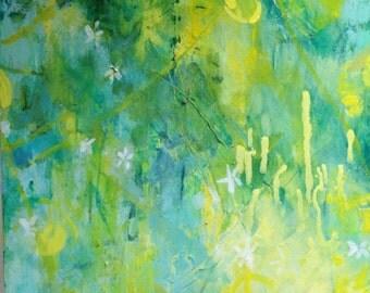 Blossom in a Lemon Grove 2-- Modern Art