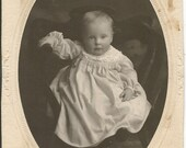Antique Cabinet Photograph of Victorian Baby
