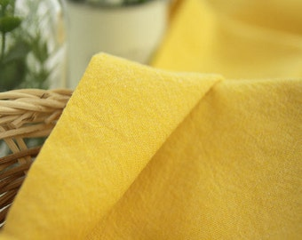 Soft Solid Cotton Fabric - Yellow - By the Yard 55952