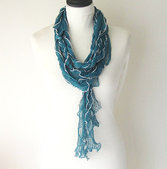 summer scarf teal summer scarf lightweight scarf by