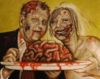 """GET ZOMBIFIED - Custom Zombie Portraits -  12"""" x 16"""" - Small"""