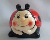 Kitsch Ladybug Bank - Vintage Happy Smiley Face Home Decor