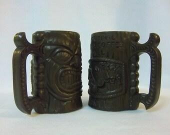Authentic Hawaiian Tiki Mugs Pair