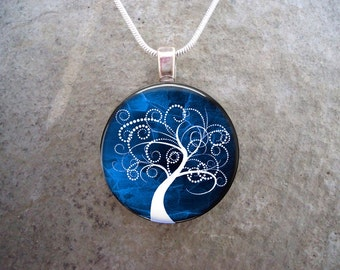 Tree Jewelry - Glass Pendant Necklace - Tree of Life Jewellery - tree 4 - PRE-ORDER