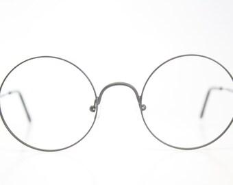 Vintage Eyeglasses Unused Black Frames Retro Eyeglass Frames vintage Round Glasses