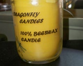 PURE BEESWAX CANDLE, 8oz jar