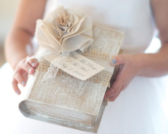With This Ring, I Thee Wed Ring Bearer Book by Burlap and Linen Co