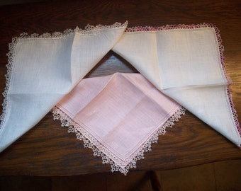 Hankies -  Vintage - Group of three