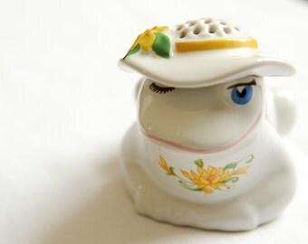Vintage Avon Frog Talc Shaker