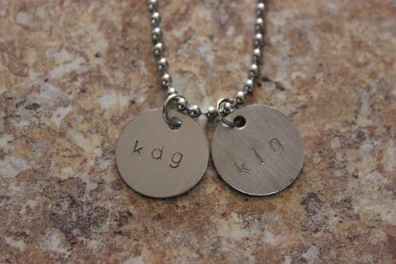 Hand Stamped Aluminum Necklace - customizable!