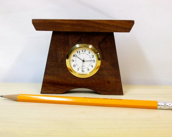 mini bungalow clock arts and crafts clock small by tanteandoom
