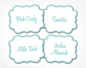 Candy Buffet Labels - Custom Color(s), Font - PRINTABLE - Custom Candy, Popcorn, Snack, Ice Cream, Cookie Buffet Labels