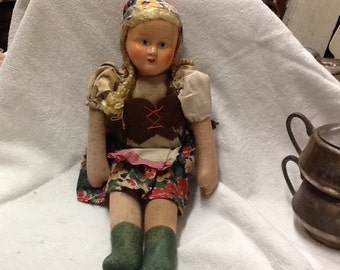 Vintage Cloth Doll