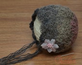 PDF Crochet Pattern Eloise Bonnet newborn baby infant photo prop