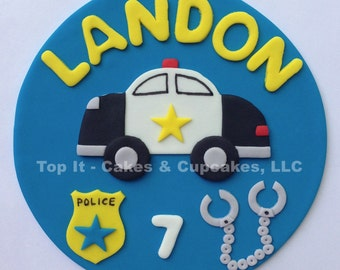 Fondant Cake Topper - Police