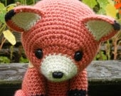 Cinnabar the Fox - Button Jointed Amigurumi Doll