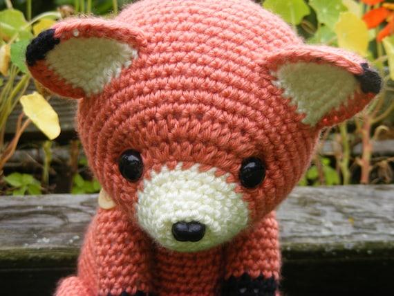 Amigurumi Doll Nose : Cinnabar the Fox Button Jointed Amigurumi Doll