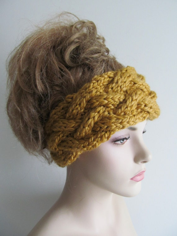 Hippie Headband Knitting Pattern : Instant Download PDF Knitting Pattern Braided Cable ...