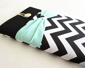 iPad Case, iPad Cover, iPad Sleeve, iPad Air Cover, iPad Air Case, Pocket with Mint Bow.