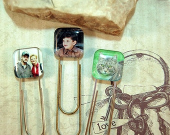 2  Photo Bookmarks Personalized Picture Jumbo Paper Clip Friends for Moms Dads Teens Friends Couples Pet Lovers Gifts